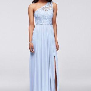 Davids Bridal Long One Sleeve lace dress